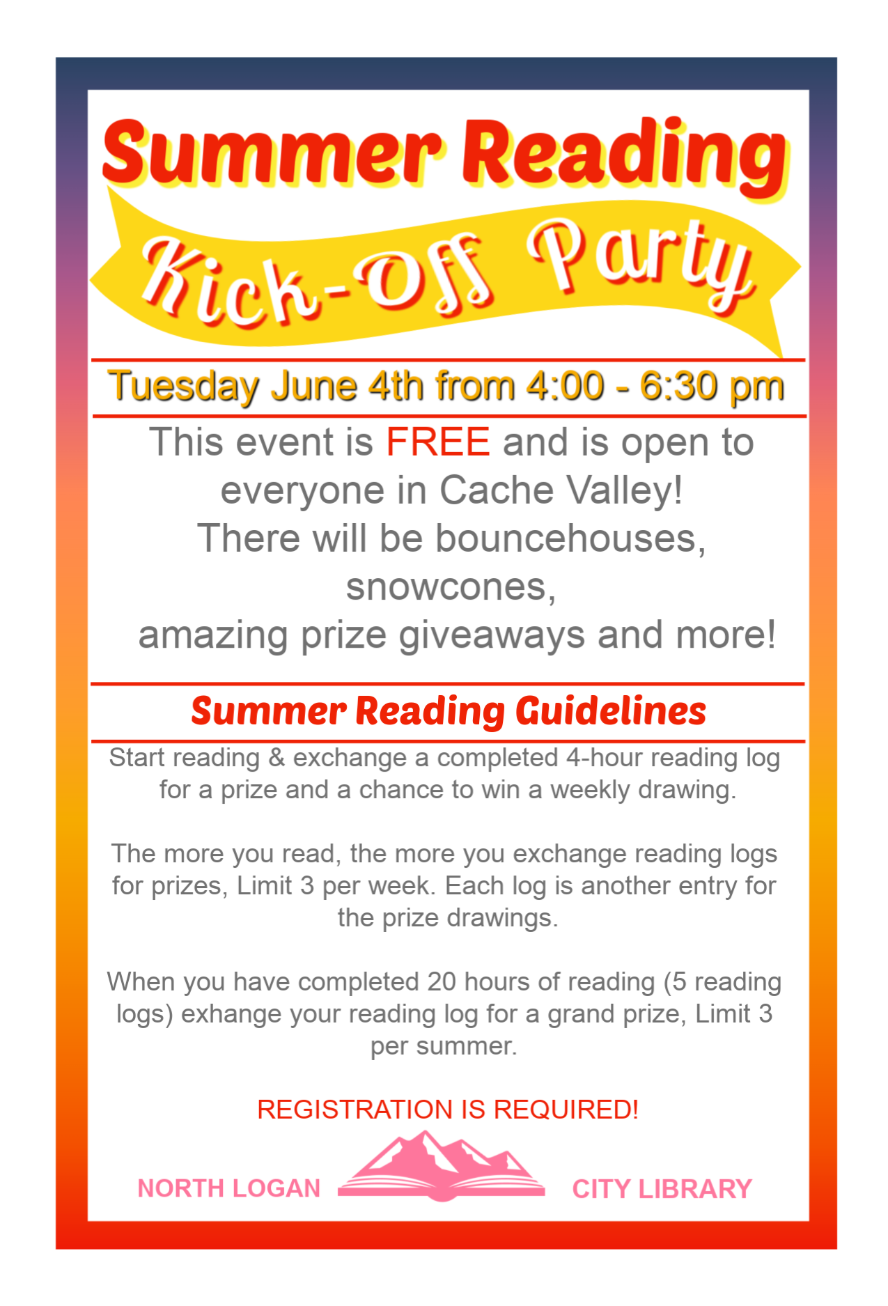 Summer Reading Kick Off Party