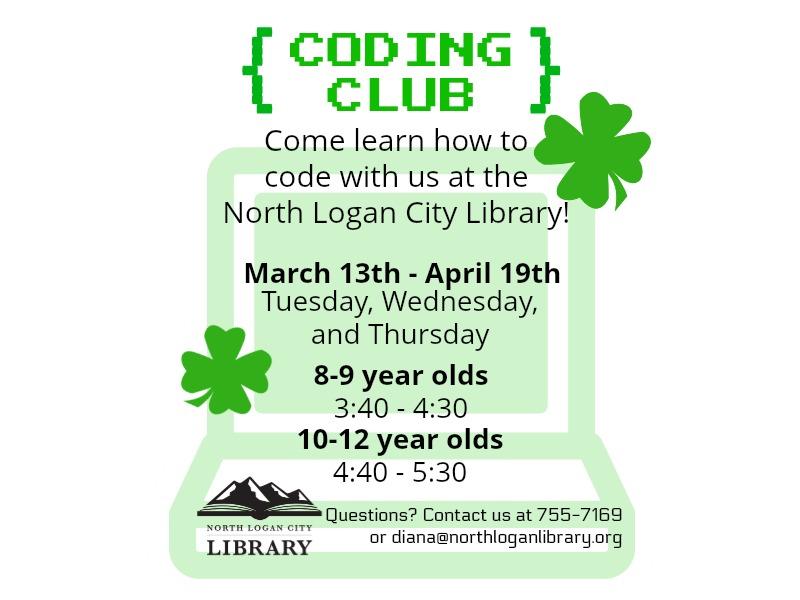 Coding Club Schedule