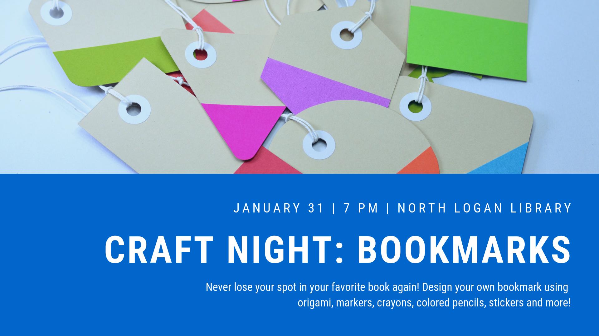Craft Night: Bookmarks