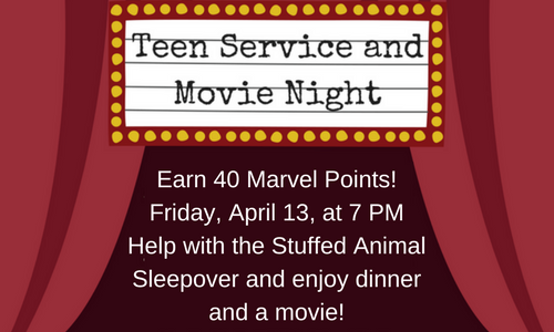 Teen Service Project and Movie Night