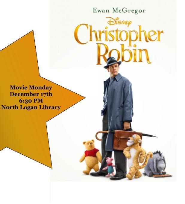 Christopher Robin Movie Monday December 17th